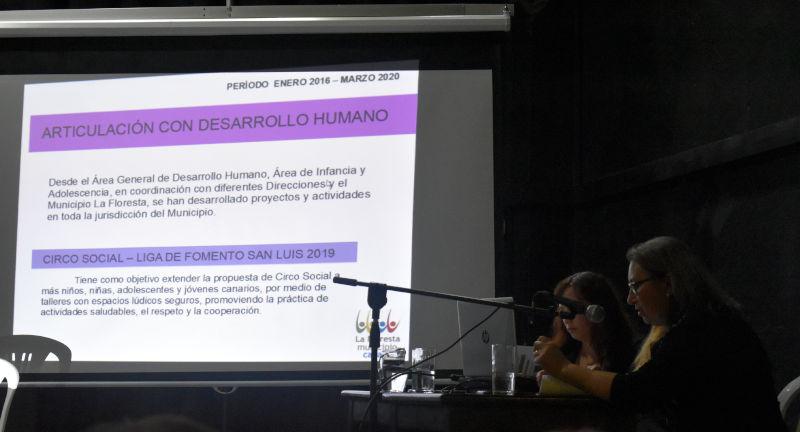 Integrantes de las mesas: Concejala Cecilia Pereyra, Funcionara Referente de Comunicaciones Dominique Furest, Concejala Nancy Polly.