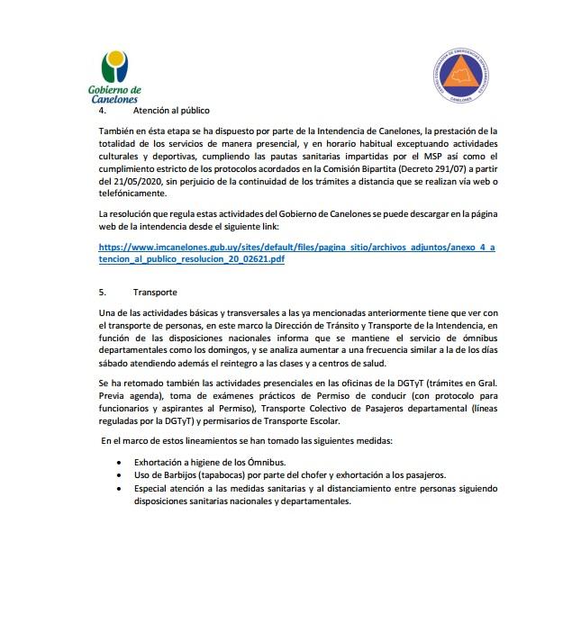 Comunicado Comité de Emergencias de Canelones.