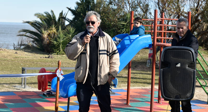 El Alcalde del Municipio La Floresta el Sr. Jorge Fachelli haciendo uso de la palabra.