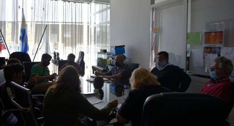 Foto de la reunión.